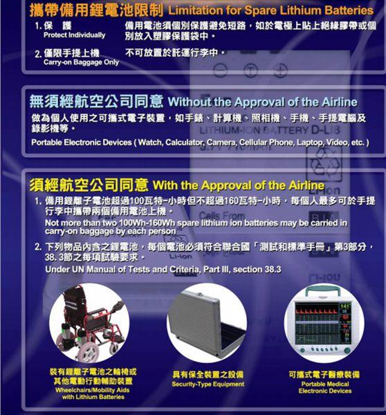 鋰電池出國規定