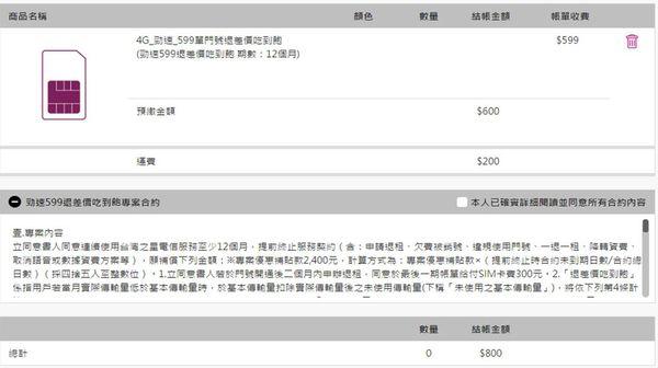 台灣之星599退價差
