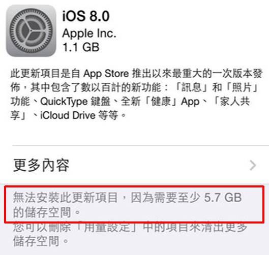 IOS8升級