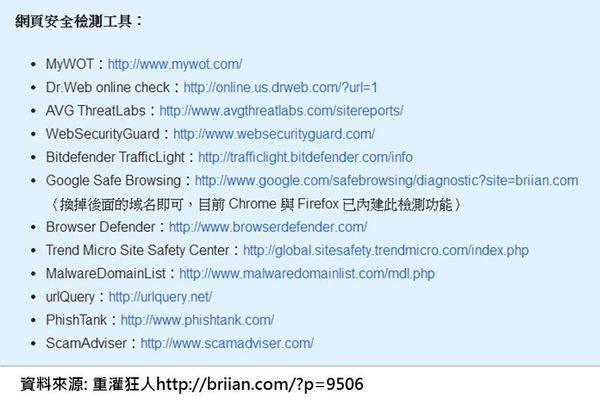 安全網頁測試